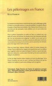 Les pèlerinages en france ; un guide d'histoire et de spiritualité - 4ème de couverture - Format classique