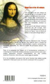 Mona lisa et les 40 voleurs - 4ème de couverture - Format classique