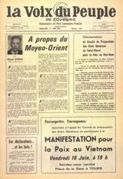 Voix Du Peuple De Touraine (La) N°1350 du 11/06/1967 - Couverture - Format classique