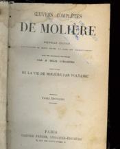 Oeuvres Completes De Moliere - Tome Troisieme - Couverture - Format classique