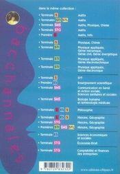 Bacchannales ; Economie-Droit ; Terminale Stg ; Sujets Du Bac, Résumés De Cours Et Préparation A L'Oral - 4ème de couverture - Format classique