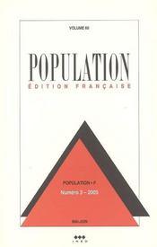 Population N 3 Mai-Juin 2005 Volume 60 - Intérieur - Format classique