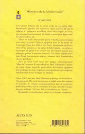 Doniazade - 4ème de couverture - Format classique