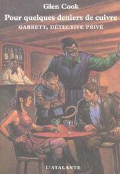 Garrett, detective privé ; pour quelques deniers de cuivre - Intérieur - Format classique
