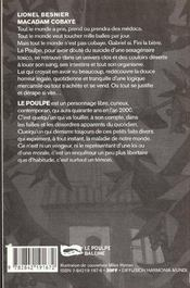 Macadam Cobaye - 4ème de couverture - Format classique
