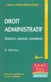 Droit administratif - lexifac - Intérieur - Format classique