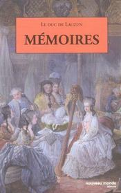 Memoires du duc de lauzun - Intérieur - Format classique