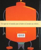 Si J'Avais Un Robot - 4ème de couverture - Format classique