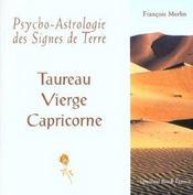 Psycho-astrologie des signes de terre - Intérieur - Format classique