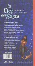 La clef des sages - 4ème de couverture - Format classique