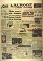 Aurore France Libre (L') N°1342 du 06/01/1949 - Couverture - Format classique