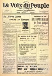 Voix Du Peuple De Touraine (La) N°1351 du 18/06/1967 - Couverture - Format classique