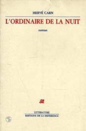 Ordinaire De La Nuit (L') - Couverture - Format classique