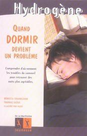 Quand Dormir Devient Un Probleme - Intérieur - Format classique