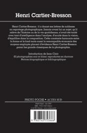 Henri Cartier-Bresson Photo Poche N 2 - 4ème de couverture - Format classique