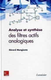 Analyse et synthese des filtres actifs analogiques - Couverture - Format classique