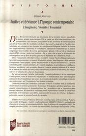 Justice et déviance à l'époque contemporaine. l'imaginaire, l'enquête et le scandale - 4ème de couverture - Format classique