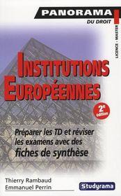 Institutions Europeennes (2e Edition) - Intérieur - Format classique