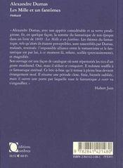 Les mille et un fantomes - 4ème de couverture - Format classique