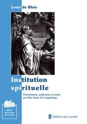 Institution spirituelle - Couverture - Format classique