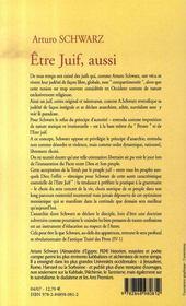 ETRE JUIF, AUSSI. Réflexions d'un athée anarchiste - 4ème de couverture - Format classique