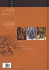 Légende ; t.1 à t.3 - 4ème de couverture - Format classique