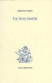 Un livre inutile - Couverture - Format classique