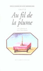 Au fil de la plume. l'epistolaire dans le monde lusophone. - Couverture - Format classique