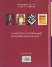 Histoire generale de la franc-maconnerie - 4ème de couverture - Format classique