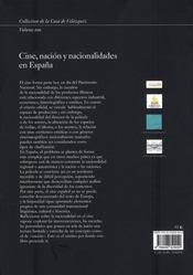 Cine Nacion Y Nacionalidades - 4ème de couverture - Format classique