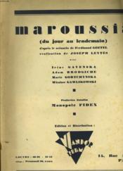 Maroussia ( Du Jour Au Lendemain ) - Couverture - Format classique