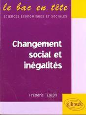Changement Social Et Inegalites - Intérieur - Format classique