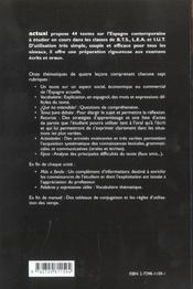 Actual L'Espagnol D'Aujourd'Hui 2e Edition Bts Tertiaires Lea-Iut Classes Preparatoires - 4ème de couverture - Format classique