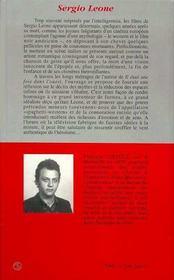 Sergio Leone ; Une Amerique De Legendes - 4ème de couverture - Format classique