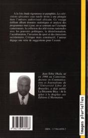 Les Televisions Africaines Sous Tutelle - 4ème de couverture - Format classique