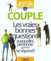 Couple ; Les Vraies Bonnes Questions - Intérieur - Format classique