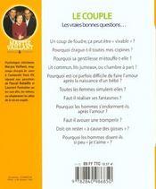 Couple ; Les Vraies Bonnes Questions - 4ème de couverture - Format classique