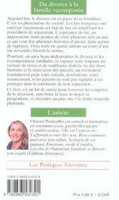 Divorce A La Famille Recomposee (Du) N.114 - 4ème de couverture - Format classique