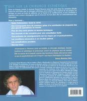 Tout sur la chirurgie esthetique - 4ème de couverture - Format classique