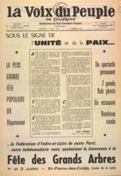 Voix Du Peuple De Touraine (La) N°1353 du 02/07/1967 - Couverture - Format classique