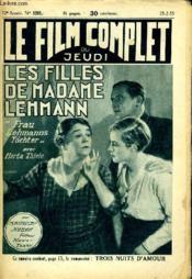 Le Film Complet Du Jeudi N° 1291 - 12e Annee - Les Filles De Madame Lehman - Couverture - Format classique