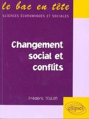 Changement Social Et Conflits - Intérieur - Format classique