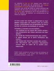 Changement Social Et Conflits - 4ème de couverture - Format classique