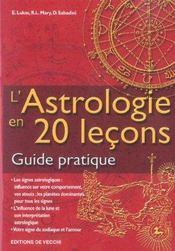 L'astrologie en 20 lecons ; guide pratique - Intérieur - Format classique