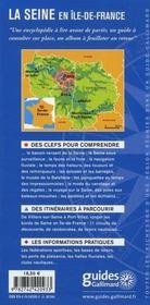 La seine en île-de-france - 4ème de couverture - Format classique