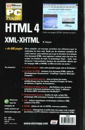 Html 4 - 4ème de couverture - Format classique