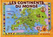 Livre de puzzles/les continents du monde - Intérieur - Format classique