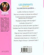 Enfants 3 A 12 Ans ; Les Vraies Bonnes Questions - 4ème de couverture - Format classique