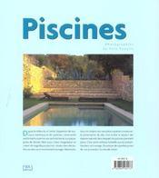 Piscines - 4ème de couverture - Format classique