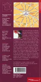L'Arc De Triomphe De L'Etoile - 4ème de couverture - Format classique